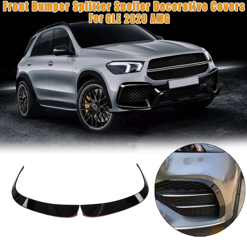 Car Front Bumper Splitter Spoilers Canard Air Knife Surround Trim for Mercedes-Benz GLE 2020 AMG Side Decorative Cover