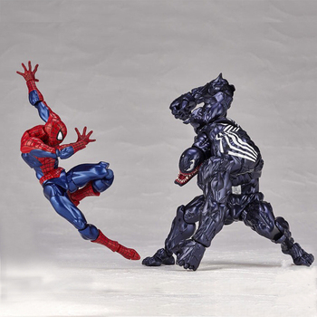 Action figure homem aranha mafex SpiderMan  Venom Amazing spider toys doll BJD Action Figure Collectible Model Toys Gift j ghee spider man hero back homecoming spiderman q version pvc figure car decoration model doll toys brinquedos christmas gift