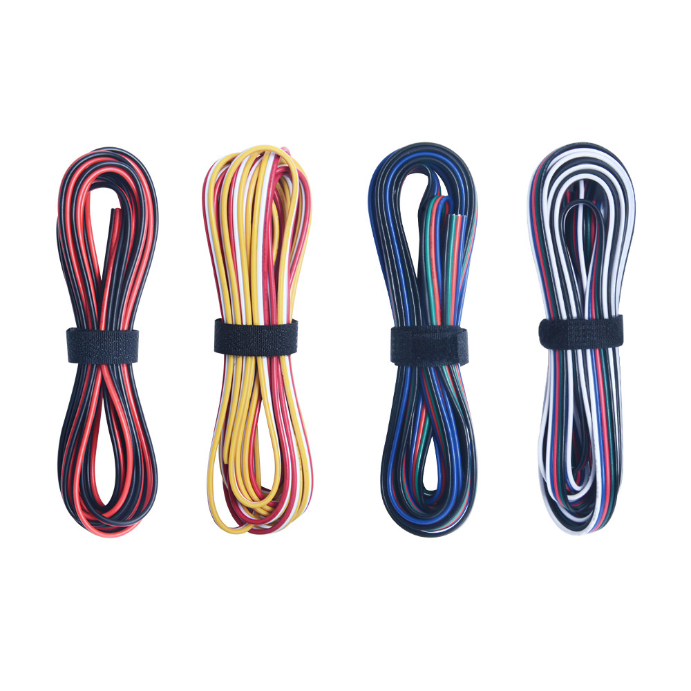 2pin <font><b>3pin</b></font> <font><b>4pin</b></font> 5pin 20AWG 22AWG Gauge Electrical Wire Tinned Copper Insulated PVC Extension LED Strip Connecting <font><b>Cable</b></font> <font><b>RGB</b></font> RGBW image