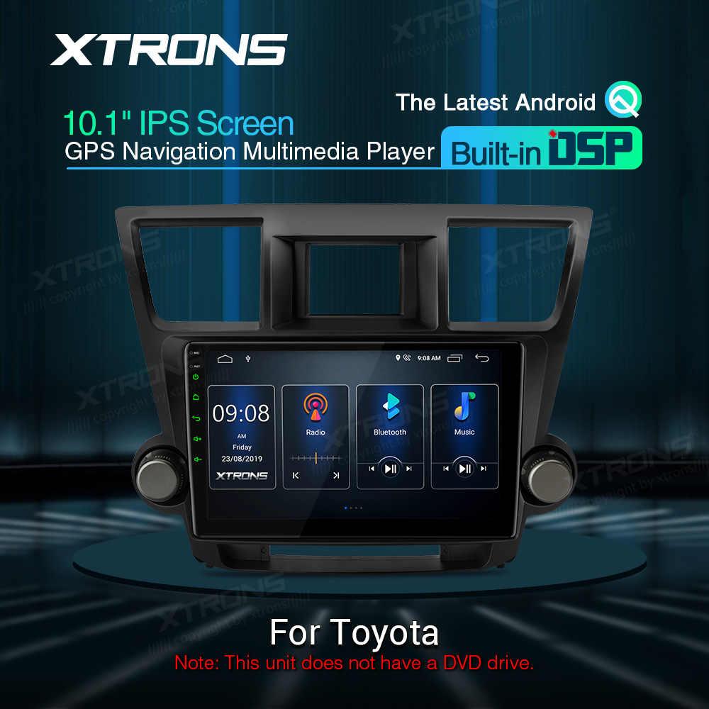 """XTRONS 10.1 """"DSP 最新のアンドロイドの Ips スクリーン GPS ナビゲーション、マルチメディアプレーヤーハイランダー 2008-2013 RCA NO DVD"""