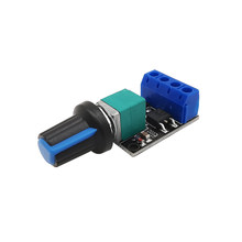 2Pcs Regulator LED Dimmer PWM DC Motor Speed Controller Governor Linearity 5V 12V 10A Voltage Band Switch Module