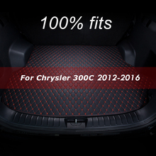 Car trunk mat for Chrysler 300C 2012 2013 2014 2015 2016 cargo liner carpet interior accessories cover