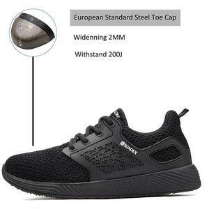 Image 2 - SUADEEX Unisexผู้ชายผู้หญิงรองเท้าเพื่อความปลอดภัยSteel Toeหลักฐานเจาะรองเท้าทำงานกลางแจ้งน้ำหนักเบาBreathableการก่อสร้างรองเท้าผู้ชาย