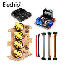 1 set Smart Robot Car 4WD Chassis Kit,Tracking obstacle avoidance for Arduino Raspberry Pi with L298N driver module