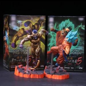2pcs/lot Dragon Ball Z Resurrection F Golden Frieza freeza freezer VS Goku Action Figure Model Toy PVC Collective Doll(China)