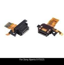 USB şarj portu orijinal Dock bağlantı şarj Flex kablo değiştirme Sony Xperia X için F5121