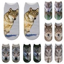 Новинка носки с 3d принтом животных забавная собака женские