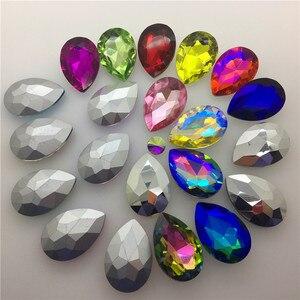 Image 3 - TopStone 30pcs Biggest Size 30x40mm Teardrop Crystal Fancy Stone Pear Drop Bling Crystal Rhinestone For Jewelry Making