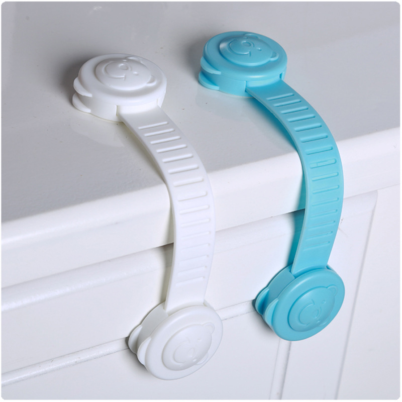 5Pcs/Lot Baby Safety Lock Protection Of Children Locking Doors For Children's Safety Kids Safety Plastic Protection Safety Lock