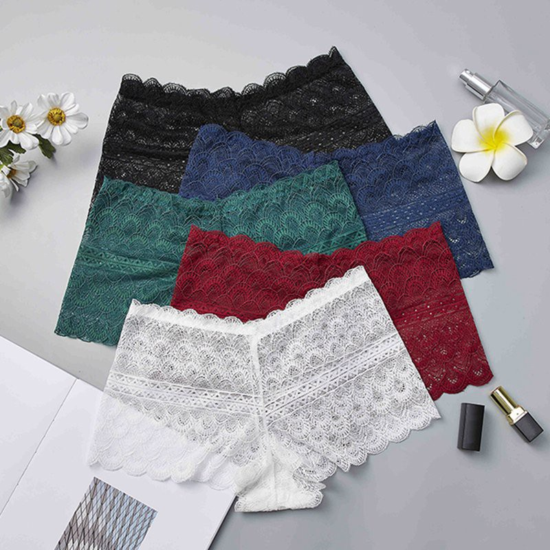 Women Lace Panties Large Sizes Sexy Seamless Safety Shorts Period Panties Tight Soft Lace Shorts Women Underwear трусики шортики