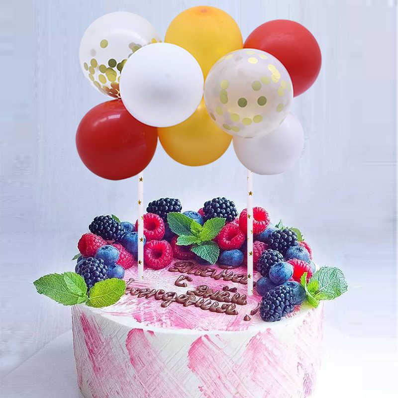 Sensational 10Pcs 5Inch Colorful Mini Balloon Cloud Cake Topper Latex Confetti Funny Birthday Cards Online Elaedamsfinfo