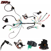 TDPRO Motorcycle Magneto Stator Full Electrics Wiring Harness Kit Coil CDI Switch Fit for 50CC 90cc 110CC ATV Quad Bike Buggy Go Kart tdpro 285mm 11shock absorber rear suspension for motorcycle pit dirt pocket bike atv quad buggy