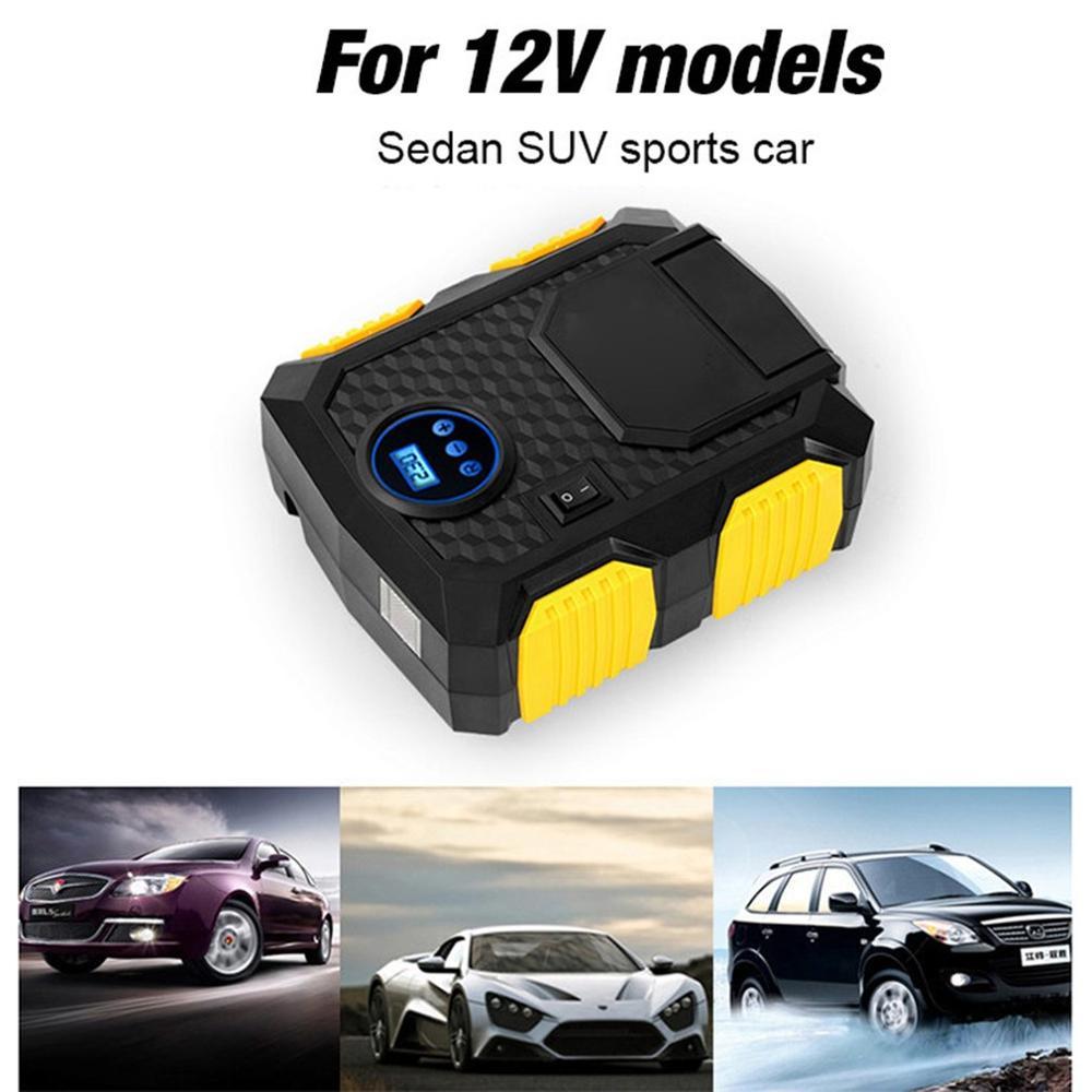 Digital Tire Inflator DC 12 Volt Car Portable Air Compressor Pump 100 PSI Car Air Compressor For Car Motorcycles Bicycles