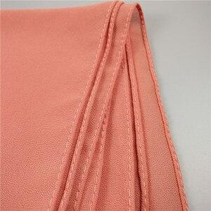Image 5 - 뜨거운 90 색 고품질 일반 거품 시폰 스카프 목도리 이슬람 hijab 여성 머리띠 스카프 shawls 10 개/몫