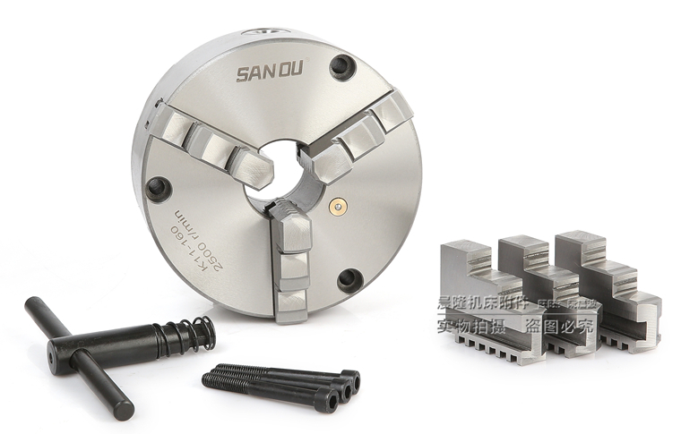 New 3 inch 3 Jaw Lathe Chuck Self-Centering K11 80 80mm chuck with Wrench and Screws Hardened