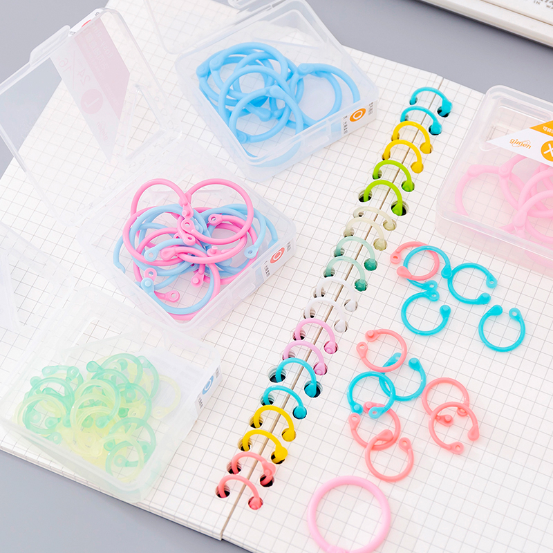 15-30mm Plastic Album Book Ring Loose-leaf Notebook Card Rings For Office DIY Handbook Open Apron Binding Circle Binder Key Hoop