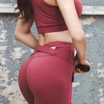 Γυναικείο Κολάν Γυμναστικής Μαύρο με χιαστή στο πίσω μέρος ψηλόμεσο Ανόρθωση Γλουτών