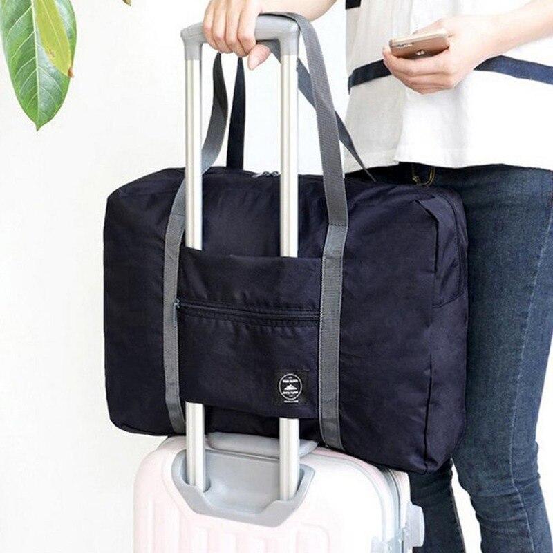 Folding Duffle Bag Waterproof Nylon Travel Bags Women Men Large Capacity Organizer Packing Cubes Luggage Girl Weekend Tote 2020