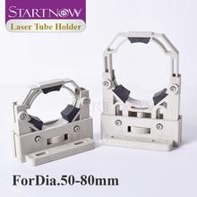 Startnow CO2 Supporto Tubo Del Laser di Montaggio Flessibile di Plastica Supporto Della Lampada D50 80 Regolabile Staffa Base Per Il Taglio Laser di Parti di Macchine