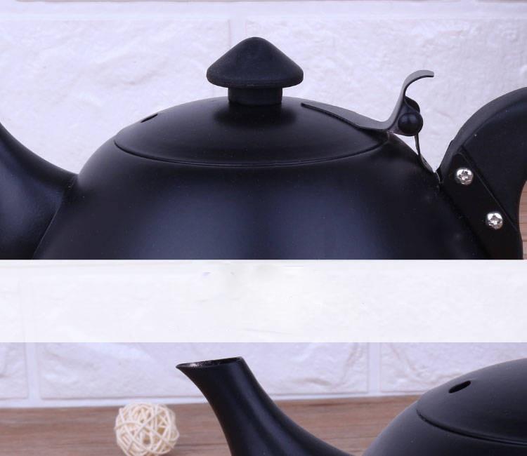Aço inoxidável bule de água fervente fogão