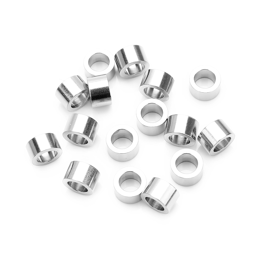20pcs Stainless Steel Metal Beads Cylinder Loose Spacers Large Hole 4x5mm