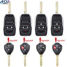2/2 + 1/3/4 кнопки модифицированный Флип складной пустой корпус для дистанционного ключа оболочки для Защитные чехлы для сидений, сшитые специа...