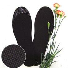 1 пара здоровых дышащих дезодорант с бамбуковым углем беговые подушки стельки для ног Вставки колодки для обуви регулируемые