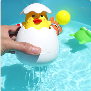 ABS Bath Toys Cartoon Duck Baby Water Toys Children Bathroom Sprinkler Toys Bath Toys for Kids(China)