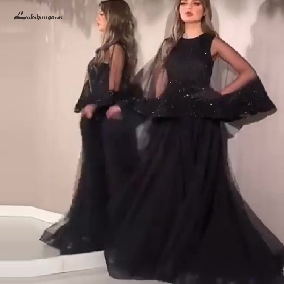 Abendkleider Bling Bling Mermaid Party Evening   Dress   Long Sleeve 2020 Sexy Dubai Women Black Glitter   Prom     Dresses   Evening Gowns