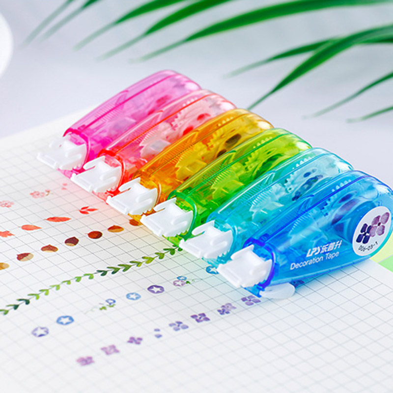 Cute Cartoon Press Decorative Correction Tape Kawaii Sun Drop Decoration Tape For Kids School Scrapbooking Diary Gift Stationery