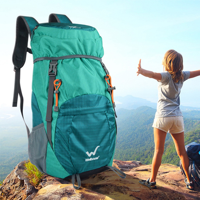 山折りたたみバックパック軽量バックパックハイキングpackableバックパック観光mochila屋外plegable軍事bagpack 2019