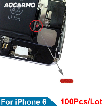 Aocarmo 100Pcs/Lot Water Damage Seal Warranty labels Indicator Set Sensors Motherboard Waterproof Red Stickers For iPhone 6 4.7 image