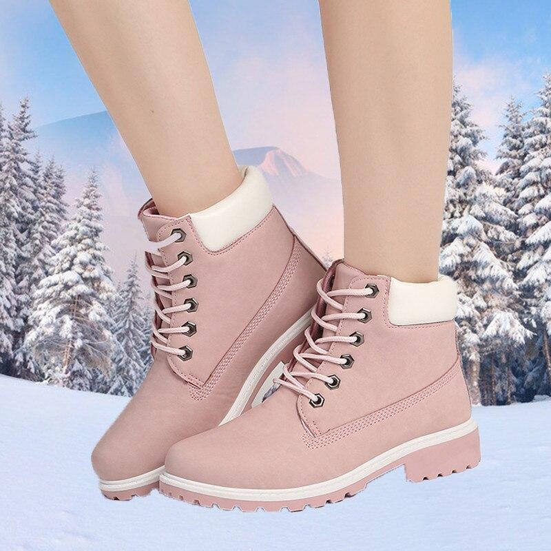 Новые зимние женские ботильоны для снежной погоды кожаные меховые