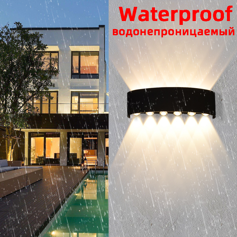 Outdoor Wall Lamp 85V-265V IP65 Waterproof Outdoor Lamp 2W   4W   6W   8W   10W   12W Outdoor LED Lighting