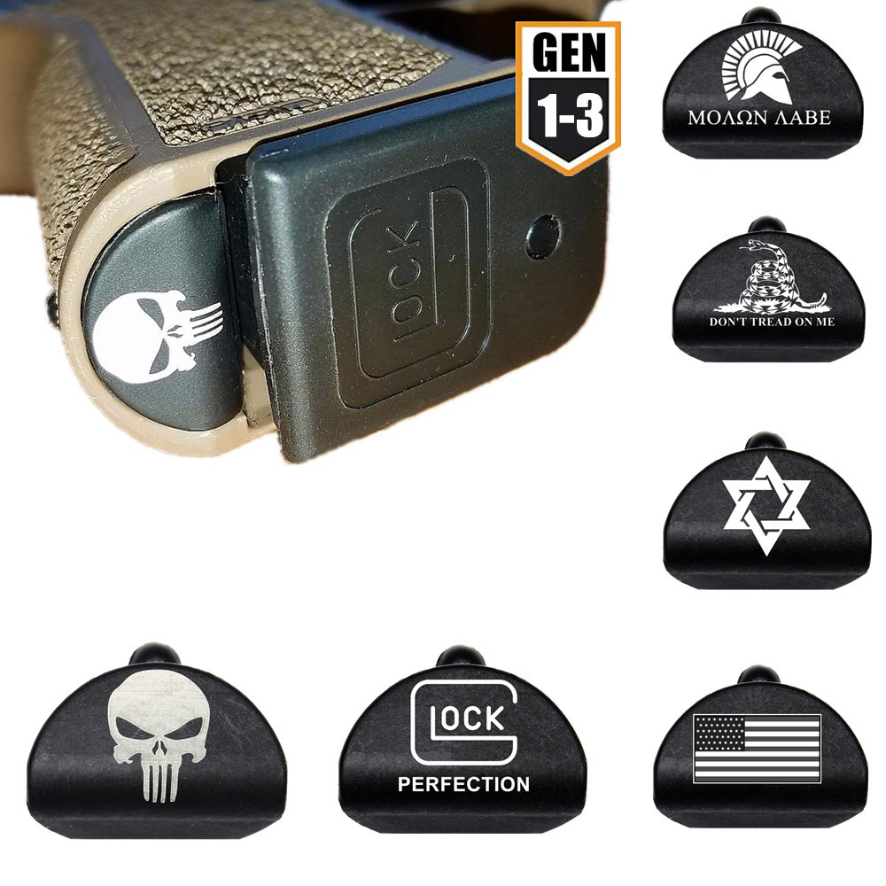 Tactical Skull Magwell Grip Frame Insert Plug For Glock 17 18 19 20 21 22 23 24 25 34 Pistol Gun 9mm Magazine Loader Accessories