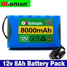 Okoman аккумулятор высокой мощности пакет 8Ah 18650 Перезаряжаемые литий-ионный аккумулятор Емкость DC 12,6 V 8000 mAh CCTV монитор камеры