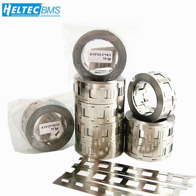 10 mètres haute pureté pur Nickel ceinture 2P lithium batterie nickel bande Li-ion batteries Ni plaque utilisée pour 18650