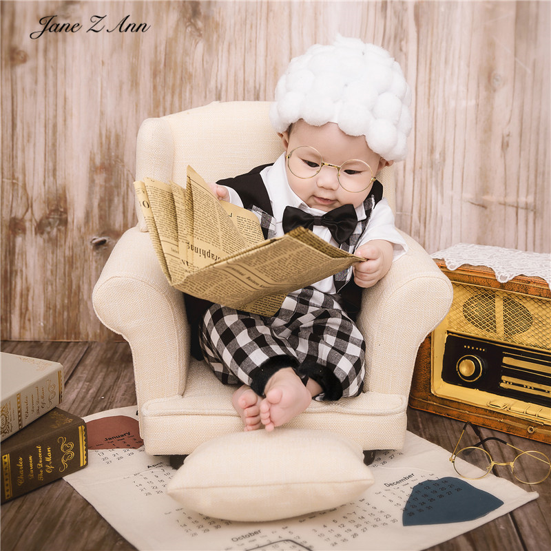 Jane Z Ann 2020 Children Photography Costume Props infant  Photo Clothes Little Grandfather Photo Studio Photo Costume Theme 1