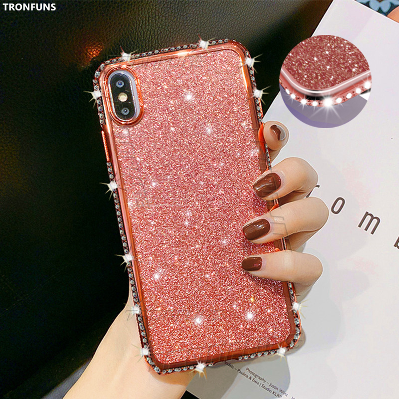 Diamond Glitter <font><b>Case</b></font> for <font><b>Huawei</b></font> P30 P20 <font><b>Pro</b></font> PSmart Z Plus Y5 Y6 Y7 Y9 Prime 2019 Honor 10 <font><b>20</b></font> i 8X 8C 8A 8S Mate 30 <font><b>20</b></font> Lite Cover image