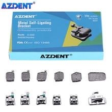 AZDENT – supports dentaires, attelle orthodontique Passive auto-ligatation, crochets 3 4 5 avec Tubes buccaux, MBT 0.022