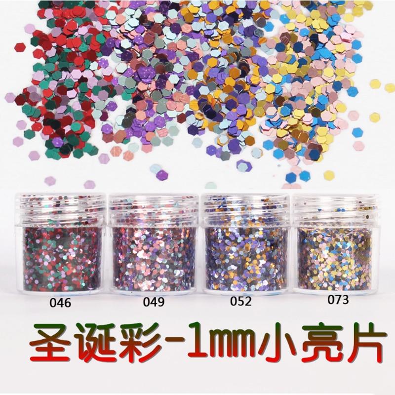 Nail Art Glitter 1000g Christmas (Champagne Purple Black )  Mixed Glitter Powder Sequins Powder For Gel Nail Art Decoration DG43