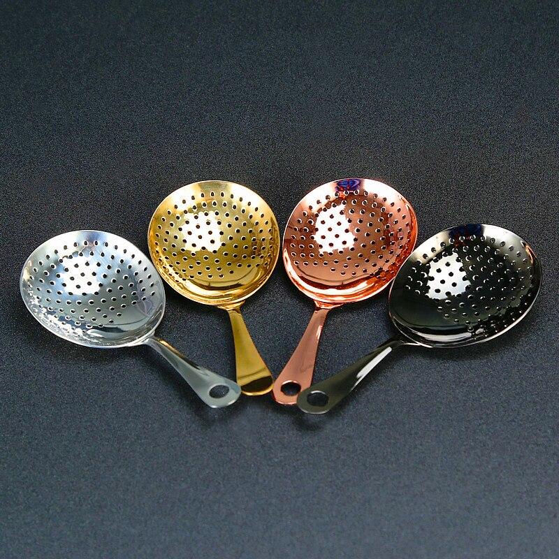 Barra de julep cocktail filtro 304 aço inoxidável cobre banhado a ouro preto barra ferramenta barware