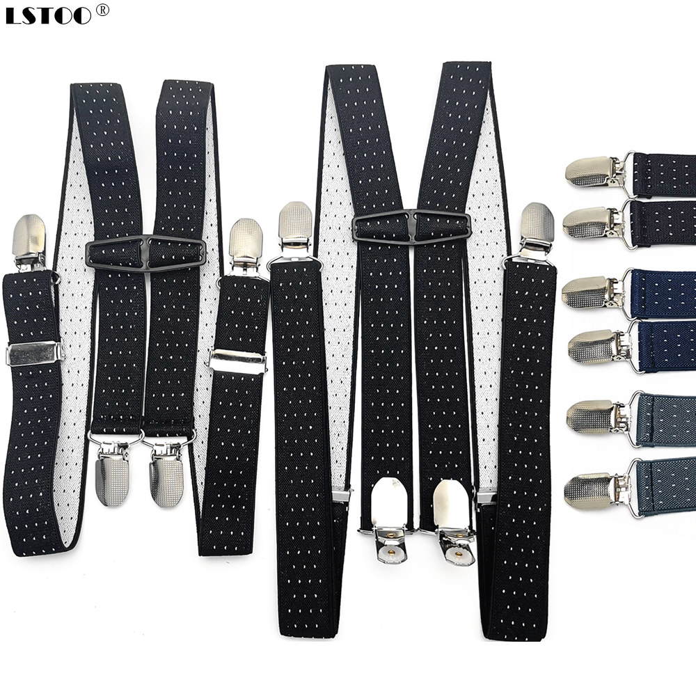2.5 Cm Width Adult Kids Dot Jacquard Suspenders Men Women Elastic Adjustable Suspensorio Braces Wedding Party Wear Match Shirt