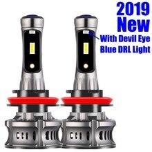 2Pcs H4 H7 H11 H8 H10 H1 H3 9005 HB3 9006 HB4 5202 H27 880 881 9012 Car LED Headlight Bulbs Hi Lo Beam Auto Headlamp Fog Lights