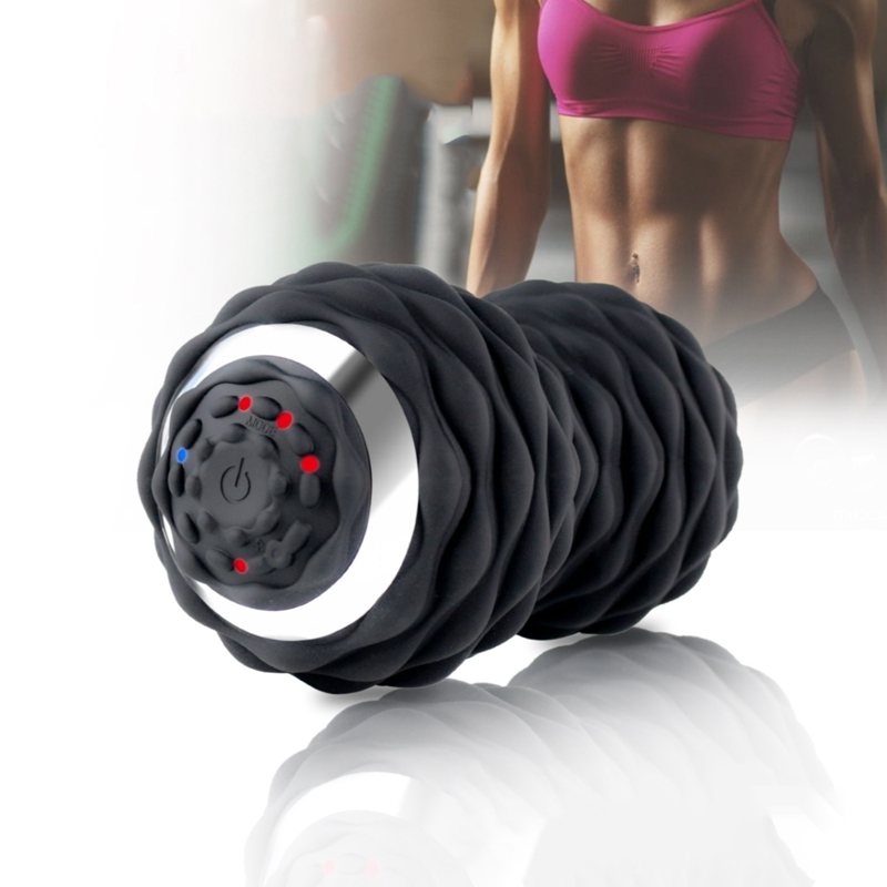 Electric Vibrating Peanut Ball Muscle Relaxing Home Gym Fitness Yoga Rechargeable Portable Massager Yoga Massage Rollor