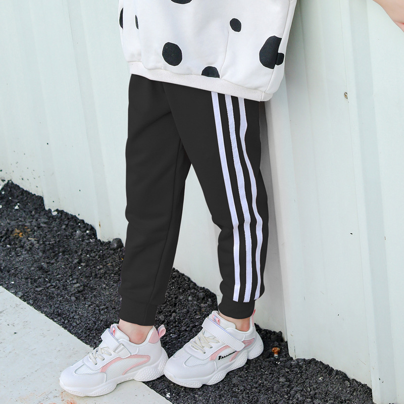 Autumn Winter Boys and Girls Trousers Stripe Sport Pants for Girls and Boys Kids Pants 1