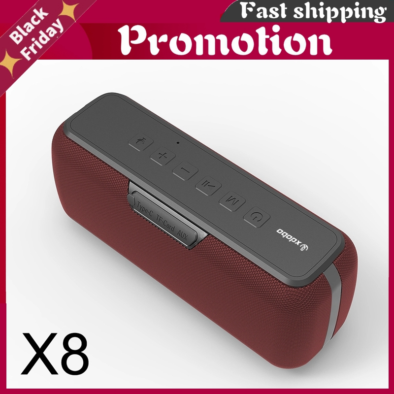 Xdobo X8 60w Big Power Bluetooth Speaker Portable Waterproof Music Center Tws Subwoofer Column Dsp Bass Soundbar Support Tf Aux