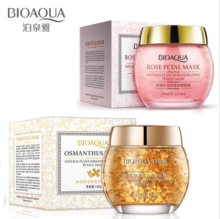 120G Flower Petals Mask Hydrating Face Mask Whitening Hydrating Moisturizing Washable Day And Night Mask Anti-Aging Skin Care