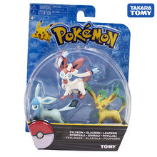 TAKARA TOMY Japan Anime Sylveon Glaceon Leafeon Figure Collectibles Pocket Monster Pokemon Dolls for Children Gifts