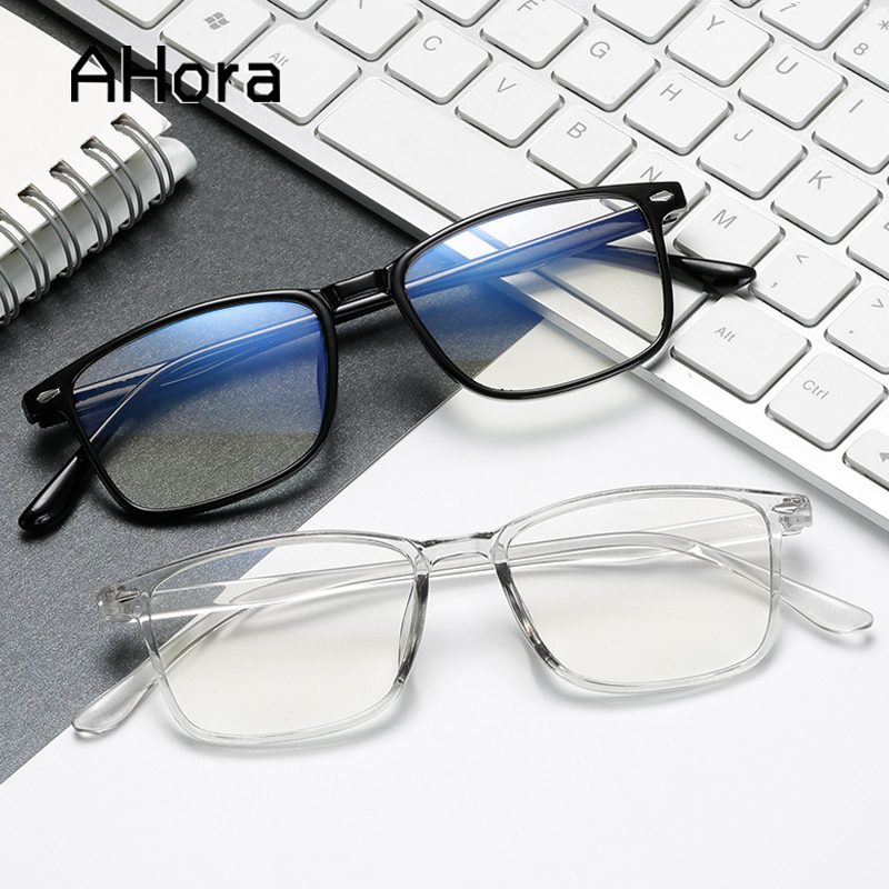 Ahora 2020 Ultralight TR90 Optical Myopia Glasses Frame Men Women Simple Square Finished Myopia Glasses Spectacle Frames 0 To -4